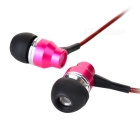 VYKON 3.5mm Wired In-Ear Ohrhörer mit Mic-Deep Pink + Schwarz (1.21m)