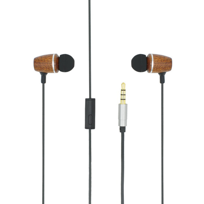 OLDSHARK In-ear Lydisolerende Wired Earphone w / Mic. - Mørk grå