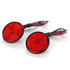 QooK JHRD50001 12V Car Red LED Tail Brake Light - Red (2 PCS)