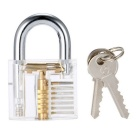 Large Practice Padlock Locksmith Lock Pick Training Tool - Transparent