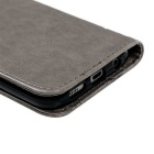 MO.MAT TPU + PU Leather Wall Case for Samsung Galaxy S7 - Gray