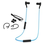 Bluetooth 4.1 + EDR Sport Stereo Earphones with Mic - Black + Blue