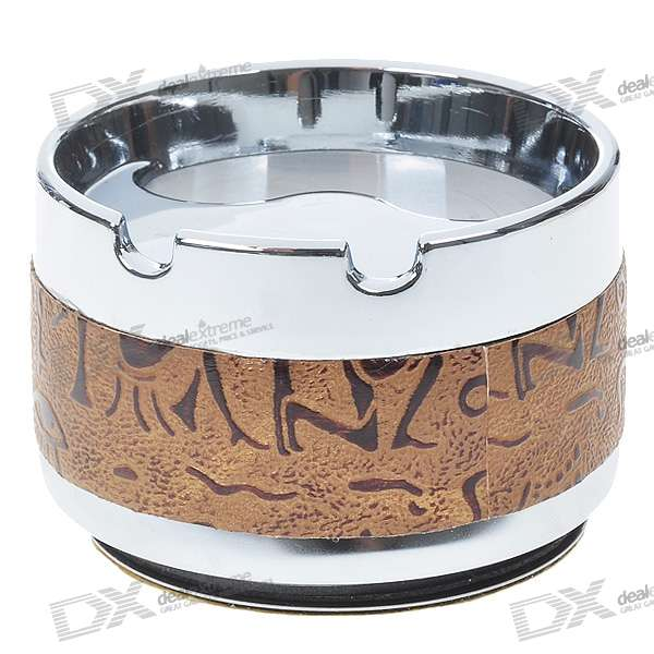 Vintage Metal Ashtray with Detachable Magnetic Base for Car