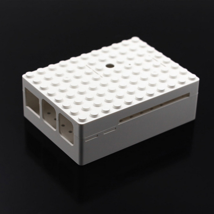 Protective Case w/ Camera Hole for Raspberry Pi - White