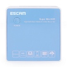 ESCAM K204 Mini 4-CH Network Video Recorder - White + Blue (EU Plug)