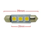 HONSCO feston 39mm 1W 30lm 3-5050 SMD LED lampe de lecture froide voiture blanche