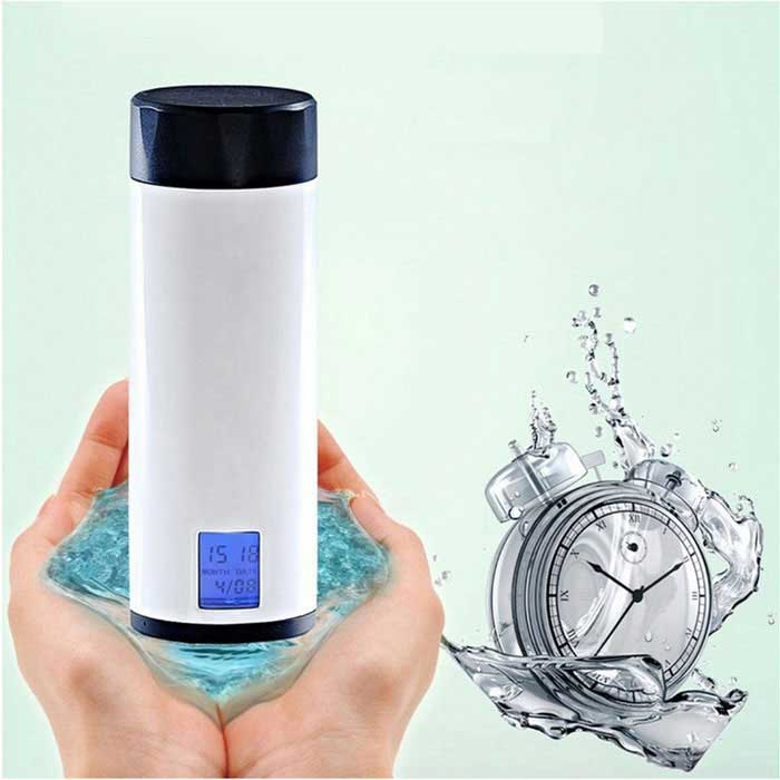 Smart Healthy Remind Mug Intelligent Water Drinking Reminder Cup Time Date Display (2*AAA)