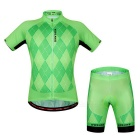 Unisex Bicycle Sports Breathable Sweat-absorbent Short Sleeve Jersey + Silicone Padded Pants Suit