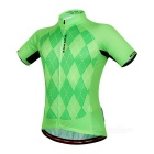 WOSAWE BC496-0XL Ciclismo curto Jersey Top + Pants - a grama verde (XL)