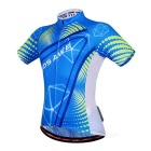 WOSAWE BC494-00M Ciclismo curto Jersey Top + Pants - azul + preto (M)