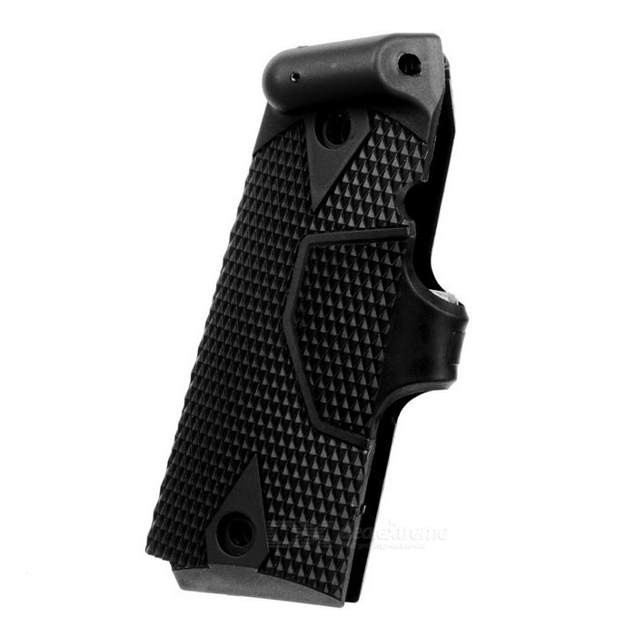 JG-025 Pistol Grip Mount Laser for M1911 - BlackGun Scopes &amp; Sights<br>Form  ColorBlackModelJG-025MaterialABSQuantity1 DX.PCM.Model.AttributeModel.UnitGun TypeM1911Mount TypeOthers,Pistol grip mountLaser Power5 DX.PCM.Model.AttributeModel.UnitLaser Wavelength630~680nmLaser Reaching Range50mLaser ColorRedOther FeaturesPowered by 2*CR2032 button cells (included)Packing List1*Laser1*Hex wrench2*Batteries<br>