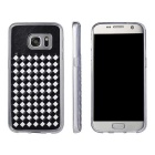 Woven Pattern Back Cover for Samsung Galaxy S7 - Black + White