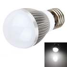 HESION HS01003D E27 3W Cool White LED Bulb - Silver + White