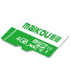 MAIKOU Class6 Micro SD / TF High Speed Memory Card - Green (4GB)