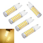 JIAWEN G9 5W LED Corn Bulb Warm White 480lm 75-2835 SMD (AC 220V)