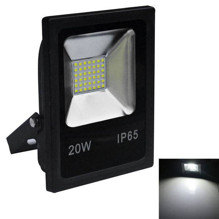 JIAWEN 20W IP65 Cold White Light LED Floodlight - Black (AC 220V)