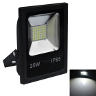 JIAWEN 20W IP65 Cool White Light LED Floodlight - Black (AC 220V)