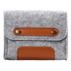 "Wool Felt Inner Bag + Accessory Bag Set for MACBOOK Pro 15"" - Grey"