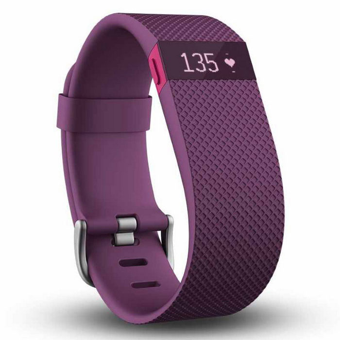 Fitbit Charge HR Wireless Activity Ranneke Purple Large