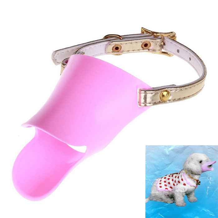 Funny Duck Bill Style Pet Dog Muzzle - Pink