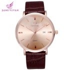 Analog Quartz Wrist Watch with Ultra Thin Dial & PU Leather Watchband (1 * S377)