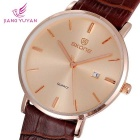 SKONE 508.403 Unisex Business Watch w / Kalender - Rose Gold + Coffee