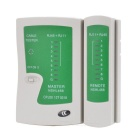 RJ45 RJ11 RJ12 CAT5 UTP Network LAN USB Cable Tester - White + Green