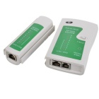 RJ45 RJ11 RJ12 CAT5 UTP red LAN Probador de cable USB - blanco + verde