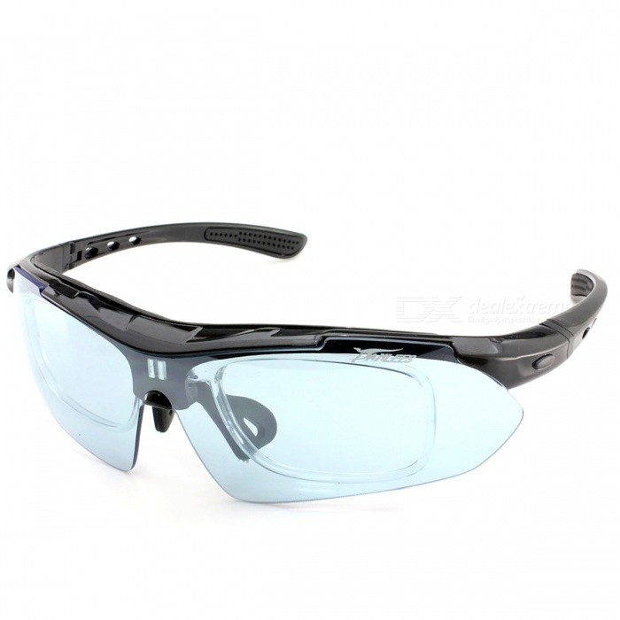 Panlees SP008 Polarized Outdoor Sports Goggles - Shiny black (5 PCS)