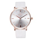 SKONE 508401 Unisex Business Watch w/ Calendar - Rose Gold + White