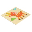 Sika Shaped Puzzle Wooden Blocks Cartoon Toy - Yellow + Multicolor