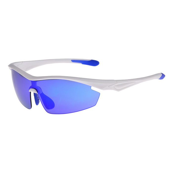 SENLAN 9002C5 Polarized Sport Sunglasses - White + Blue