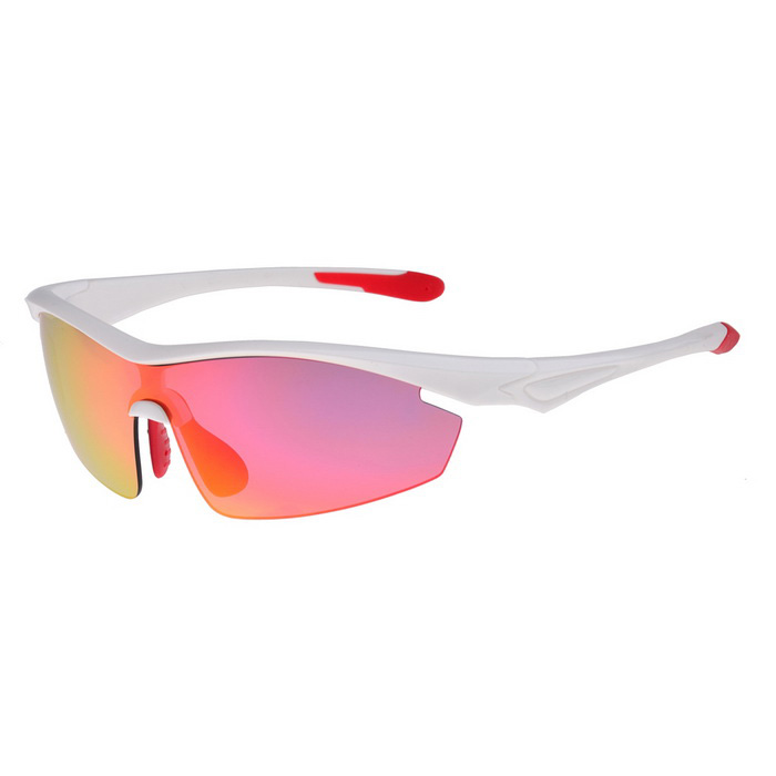 SENLAN 9002C4 Polarized Sport Sunglasses - White + Red