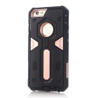 TPU + PC Back Case for IPHONE 6S / 6 - Black + Rose Gold