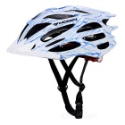MOON Ultra-light Road Cycling Safety Bike Helmet - White + Blue (L)