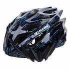 MOON Ultra-light Road Cycling Safety Bike Helmet - Black + Blue (L)