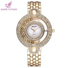 WeiQin 377601 Women's Analog Quartz Wrist Watch - Golden + White
