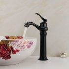 Vintage Oil-Rubbed Brass Single Handle Bathroom Sink Faucet - Black