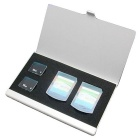 Portable Aluminum 2 PSV Game Card +2 PSV Vita Storage Box - Silver