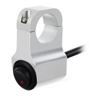 Aluminium Alloy Motorcycle Handlebar Switch w/ Red LED - Silver+Black