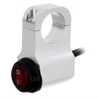 Waterproof CNC Motorcycle Handlebar Switch 3-Cable - Silver + Red