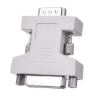 CY DV-021  DVI-I (24+5) Female to VGA 15-Pin Male Adapter - White