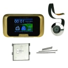 "2,8"" LCD ovale smart visionneuse de judas / sonnette visuelle - noir + or"