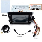 "Junsun 7 ""Car DVD Player / GPS / Rádio / Bluetooth - preto + Ferro Cinzento"