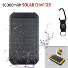 SUNGZU 8000mAh 5V 1A / 2A Dual USB Solar Power Bank - Black