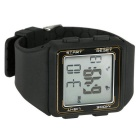 Professional Practical Sport Wrist Watch w/ Pedometer - Black