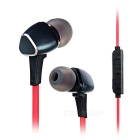M6 Bluetooth 4.1 In-Ear Stereo Earphones with Mic. - Black + Red