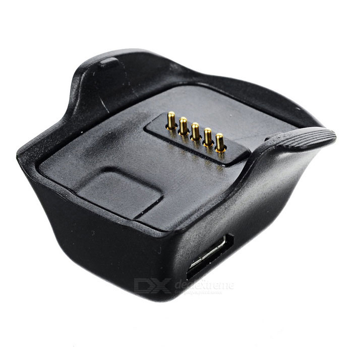 USB Charger Charging Dock for Samsung Galaxy Gear Fit R350 - BlackWearable Device Accessories<br>Form  ColorBlackQuantity1 DX.PCM.Model.AttributeModel.UnitMaterialABS + PCOther FeaturesInput: 5V / 1A; Output: 5V / 1APacking List1 * Charging station1 * Charging cable (100+/-2cm)<br>