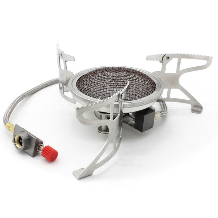 Bulin B15 Outdoor Power Flame Windproof Infraröd Gasskiva-silver