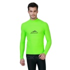 Sbart Men's Long Sleeves Diving Rash Guard Top - Green (XL)